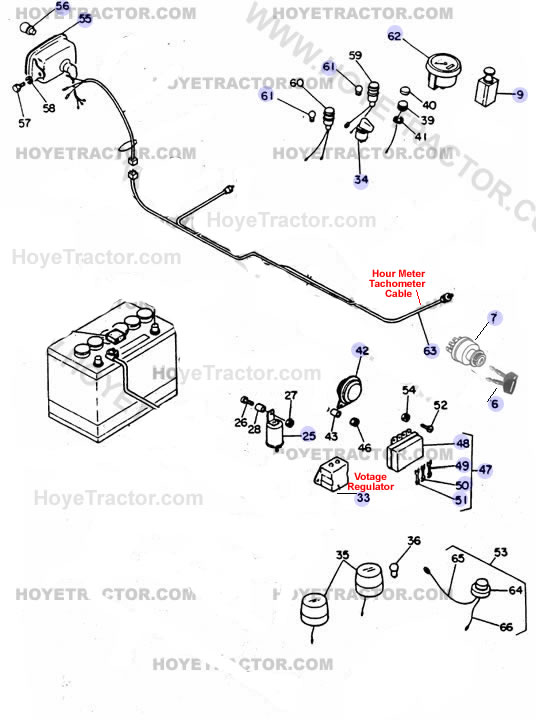 Yanmar Tractor Parts: ELECTRICAL