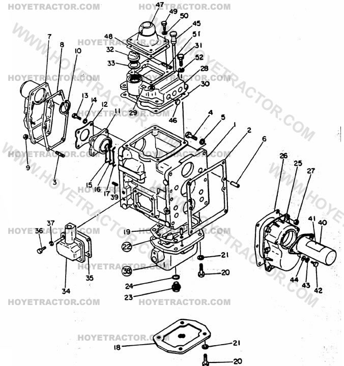 Yanmar Tractor Parts: TRANSMISSION_CASE