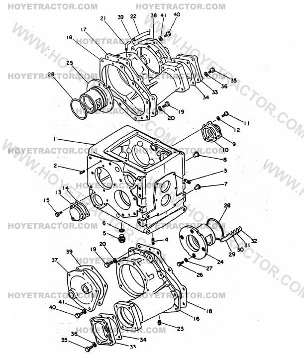 REAR_AXLE_CASE: Yanmar Tractor Parts
