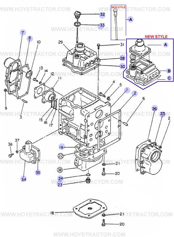 Yanmar Tractor Parts: TRANMSISSION_CASE_G