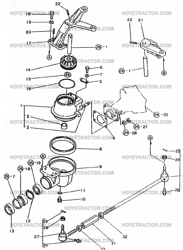 4WD_KNUCKLE_EXT: Yanmar Tractor Parts