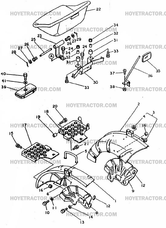 FENDER _&_SEAT: Yanmar Tractor Parts