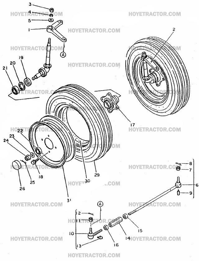 2WD_AXLE: Yanmar Tractor Parts