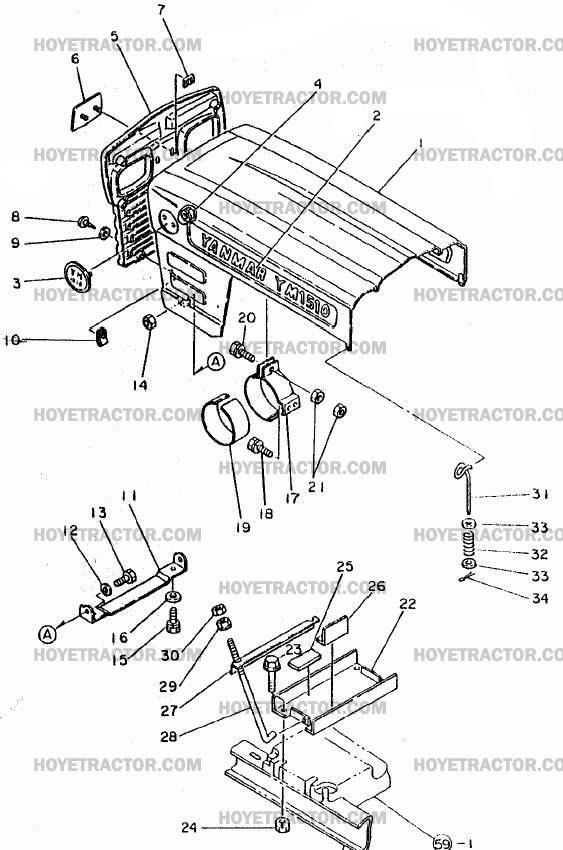 HOOD: Yanmar Tractor Parts