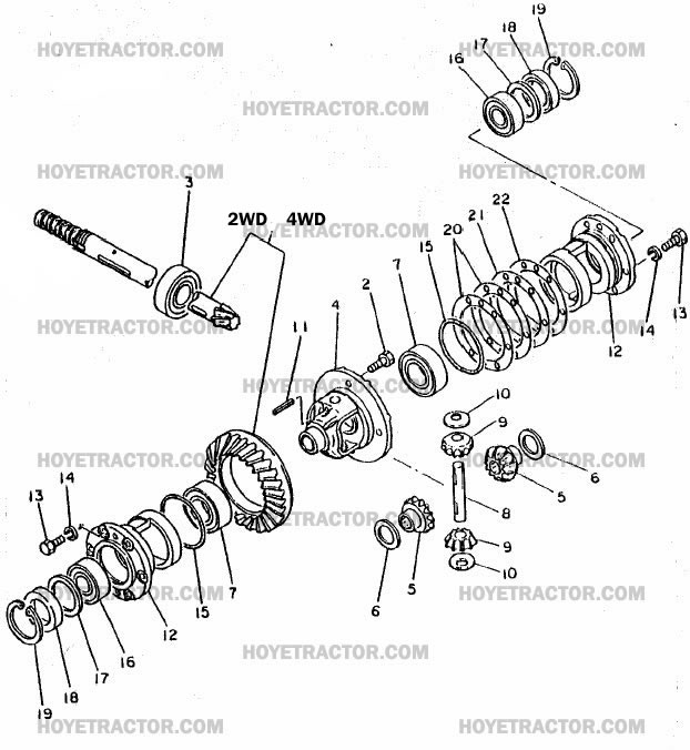 REAR_DIFFERENTIAL: Yanmar Tractor Parts