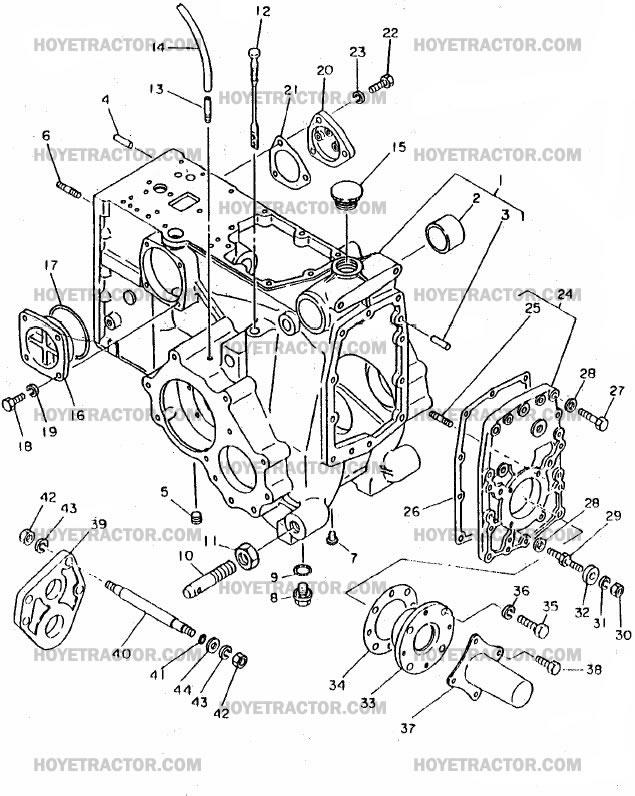 REAR_AXLE_EXT: Yanmar Tractor Parts