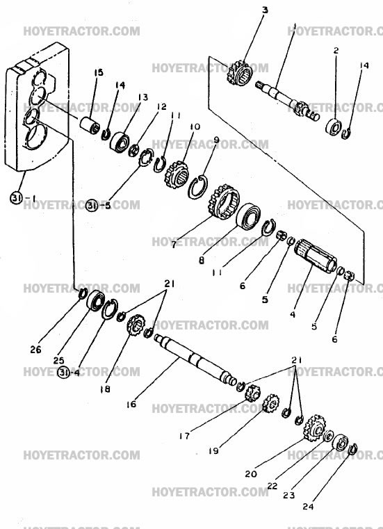 TRANSMISSION_GEARS: Yanmar Tractor Parts