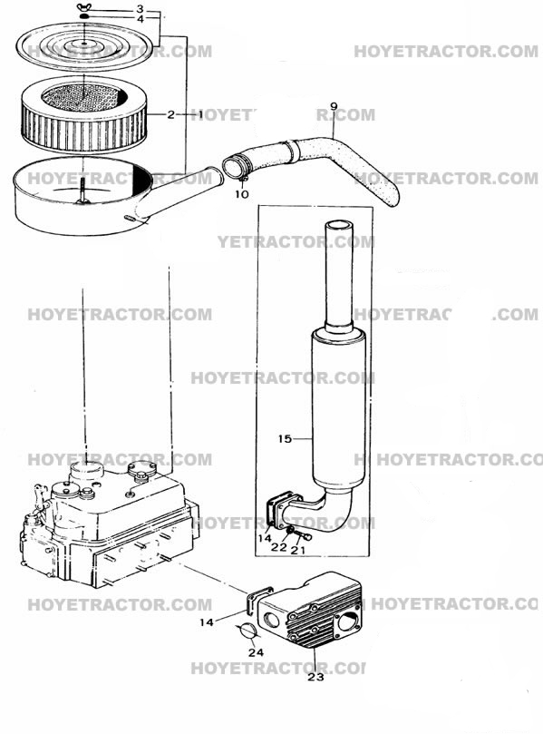 INTAKE_&_EXHAUST: Yanmar Tractor Parts