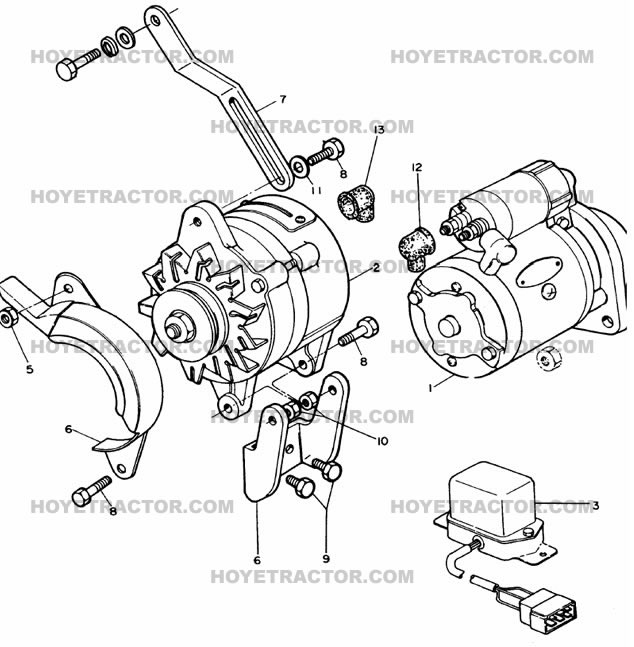 STARTING_CHARGING: Yanmar Tractor Parts