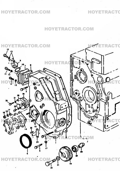 GEAR_CASE: Yanmar Tractor Parts