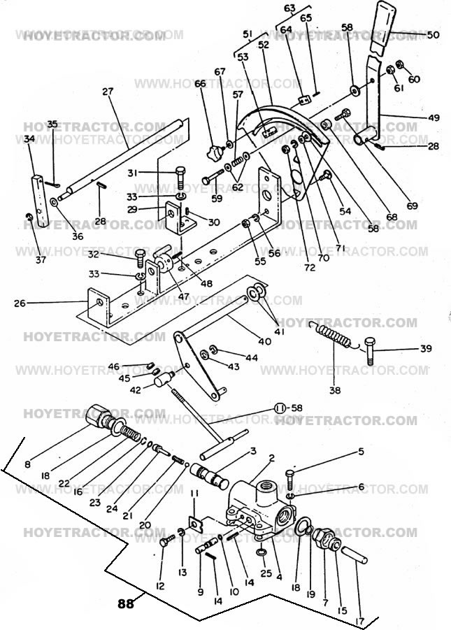 THREE_POINT_CONTROL: Yanmar Tractor Parts