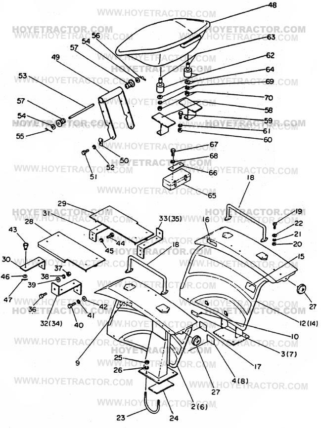 FENDER_&_SEAT: Yanmar Tractor Parts