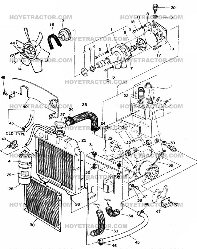 COOLING_SYSTEM: Yanmar Tractor Parts