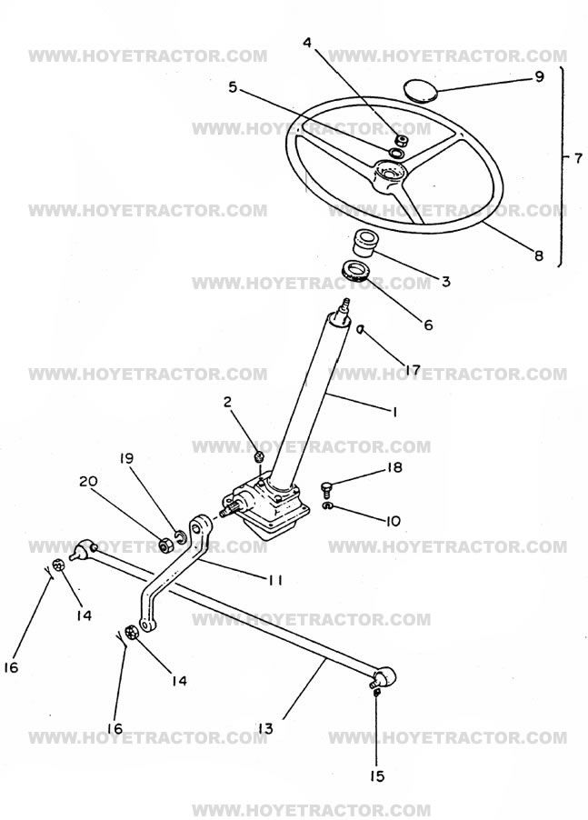 STEERING_EXTERNAL: Yanmar Tractor Parts