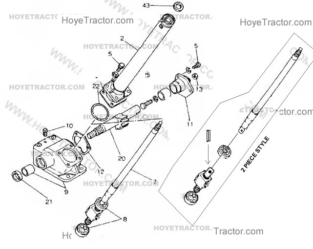 Yanmar steering shaft repair