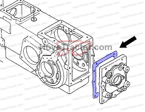 PTO COVER GASKET: Yanmar Tractor Parts