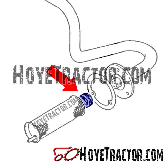 HYD SCREEN RUBBER GROMMET: Yanmar Tractor Parts