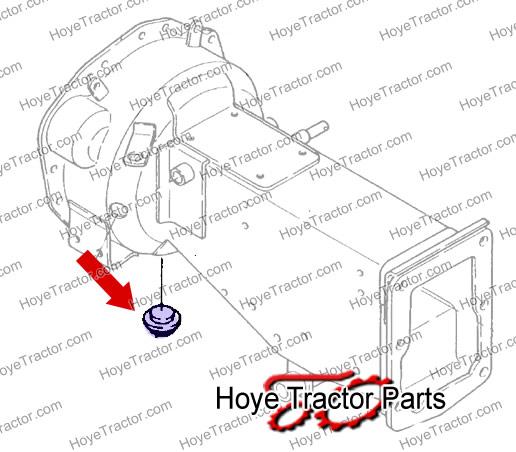 RUBBER BELLHOUSING PLUG: Yanmar Tractor Parts