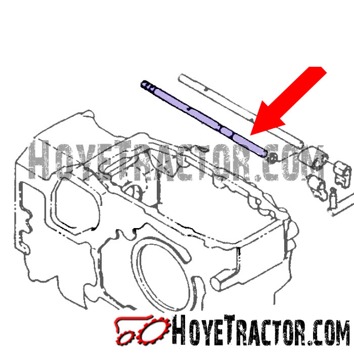 Shift Rail (1st / Reverse): Yanmar Tractor Parts