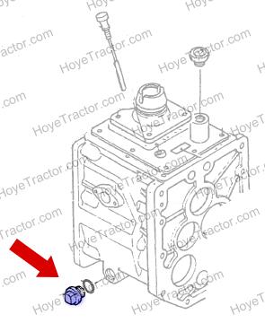 TRANSMISSION DRAIN PLUG (ALUMINUM): Yanmar Tractor Parts