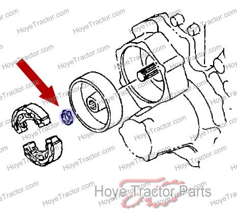 BRAKE DRUM SNAP RING: Yanmar Tractor Parts