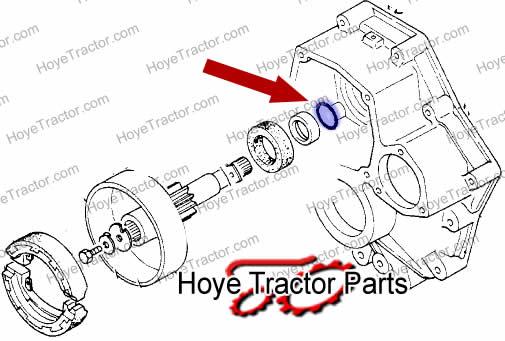 Brake Stub Axle Oring: Yanmar Tractor Parts