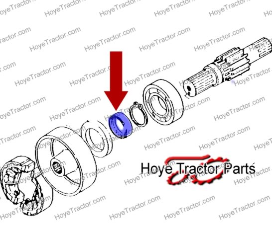 BRAKE SHAFT SEAL COLLAR: Yanmar Tractor Parts