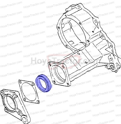 SEAL & COLLAR REAR AXLE_: Yanmar Tractor Parts