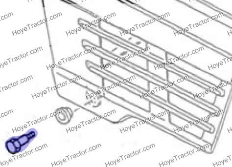 HOOD HINGE BOLT: Yanmar Tractor Parts