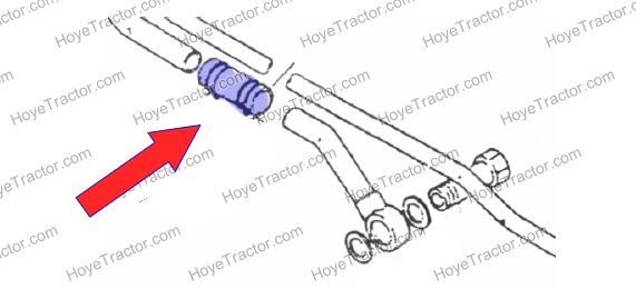 HYDRAULIC HOSE COUPLER: Yanmar Tractor Parts