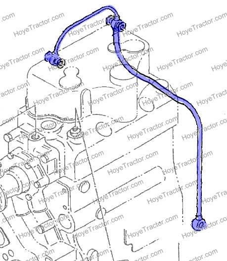 STEEL OIL LINE: Yanmar Tractor Parts