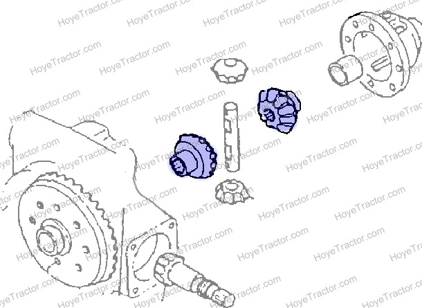 GEAR FRT SPIDER _: Yanmar Tractor Parts