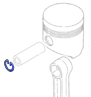 PISTON PIN CLIP_: Yanmar Tractor Parts