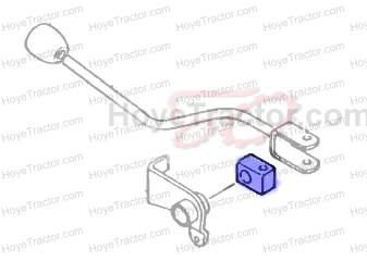 PTO SHIFTER BLOCK PLASTIC_: Yanmar Tractor Parts