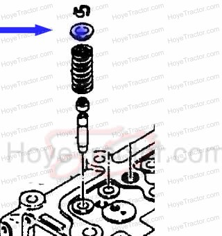 VALVE SPRING RETAINER (EACH): Yanmar Tractor Parts