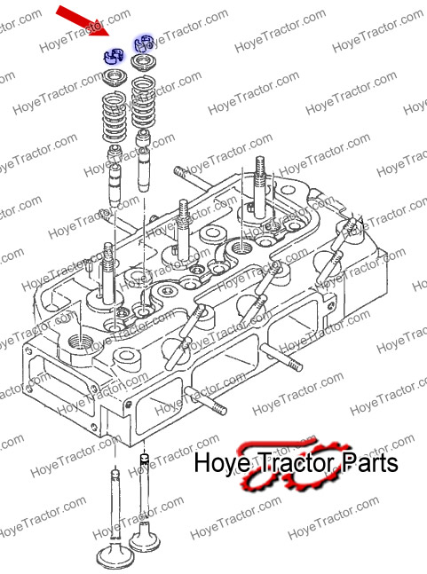 VALVE SPRING KEEPER (PER VALVE): Yanmar Tractor Parts