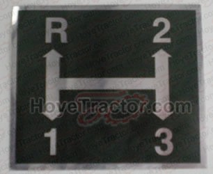 Trans Shift Pattern Decal Yanmar Tractor Parts