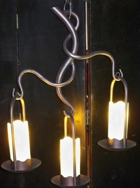 Bronze Light Wrought Iron Chandelier