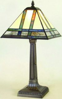Mission Lamps Made of Stained Glass