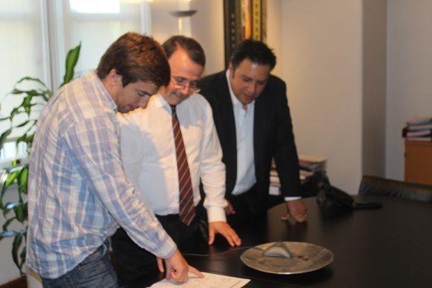 Reunión en Occovi - Juan Ustarroz y Juan Pablo López Baggio