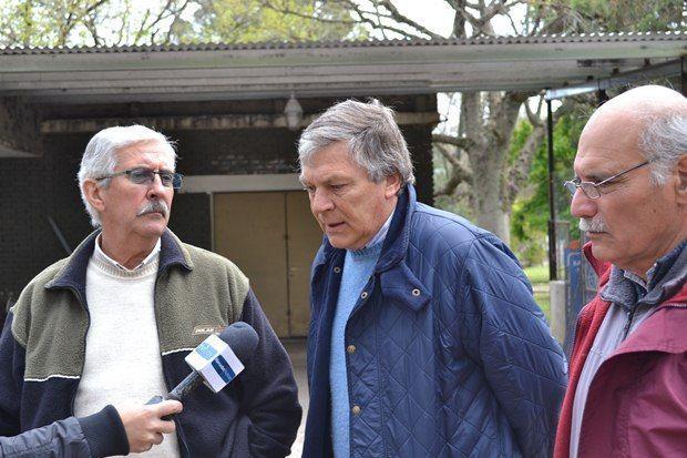Leandro López junto a Ricardo Bozzini y José Picardi