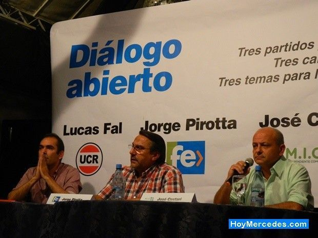 Fal, Cestari y Pirotta en el primer gran encuentro político del año