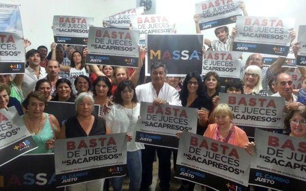 """""""Basta de jueces saca presos"""" sostiene el Frente Renovador Mercedes"""