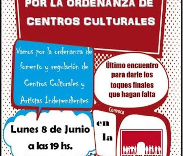 Convocan a un nuevo encuentro por proyecto de ordenanza de Centros Culturales