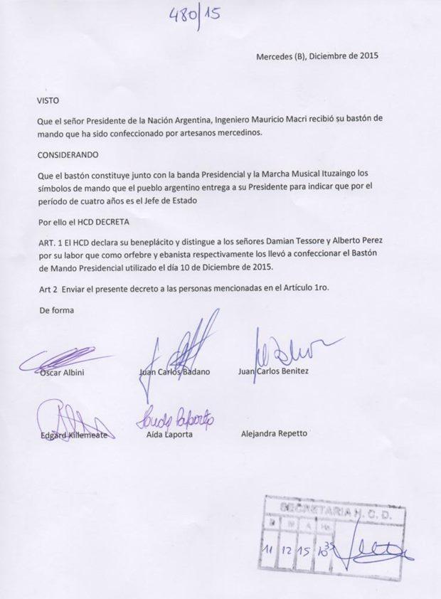 Decreto-Albini-Mando-Baston