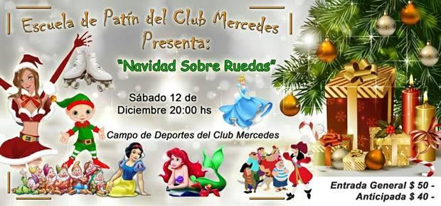 Fiesta de fin de año «Navidad sobre ruedas» de la Escuela de Patín del Club Mercedes