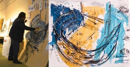 El Artista Gustavo Navone pintará en la plaza San Martín