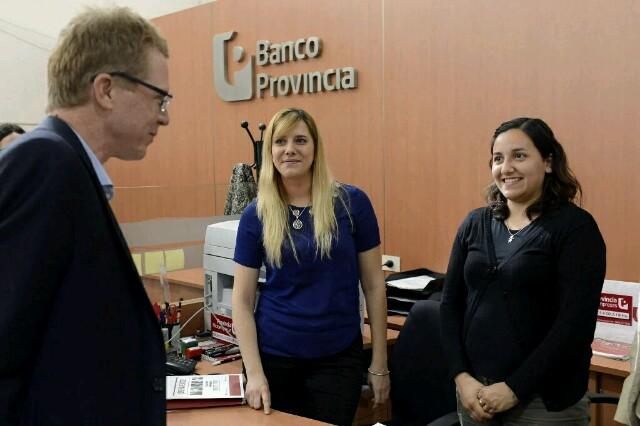 El presidente del Banco de la Provincia recorrió Mercedes