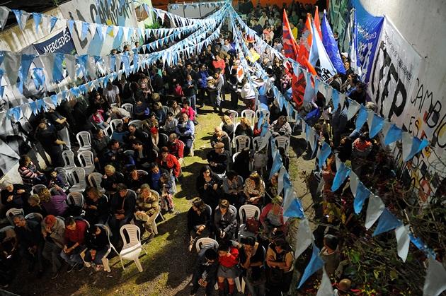 Multitudinario acto del Frente Mercedino en el día de la Lealtad Peronista