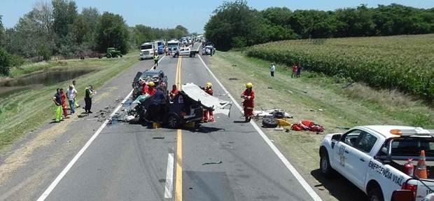 Triple y fatal choque en Ruta Nacional N°5